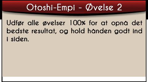 shotokan karate otoshi-empi